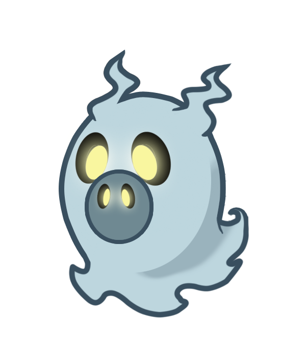 Floating Whisper Ghost Mascot