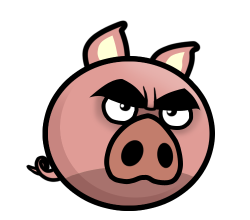 Angry Evil Pig Mascot
