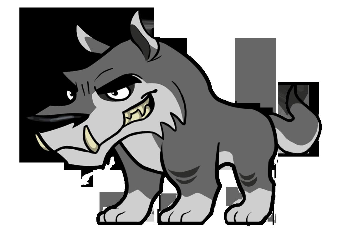 Baby Wolf Mascot