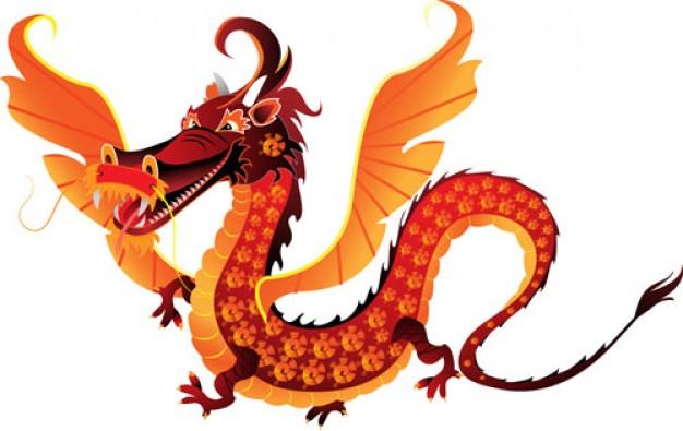 Red Friendly Dragon Mascot