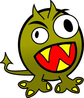 Little Green Devil Mascot