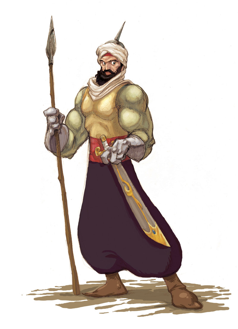Arabian Warrior Mascot