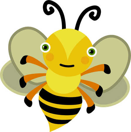 Happy Bee Mascot