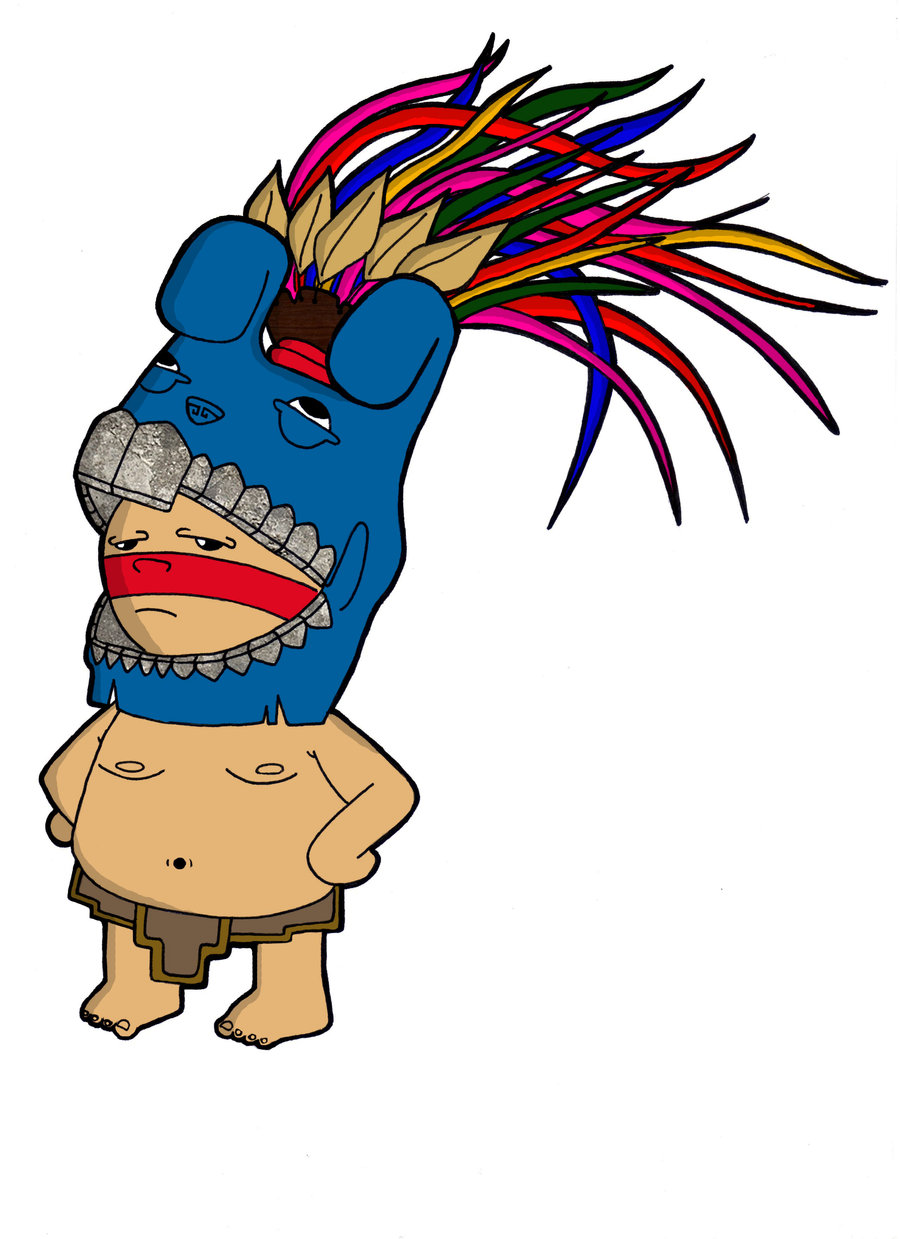 Ancient Aztec Warrior Mascot