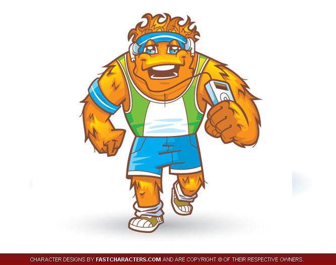 Alien Jogger Mascot