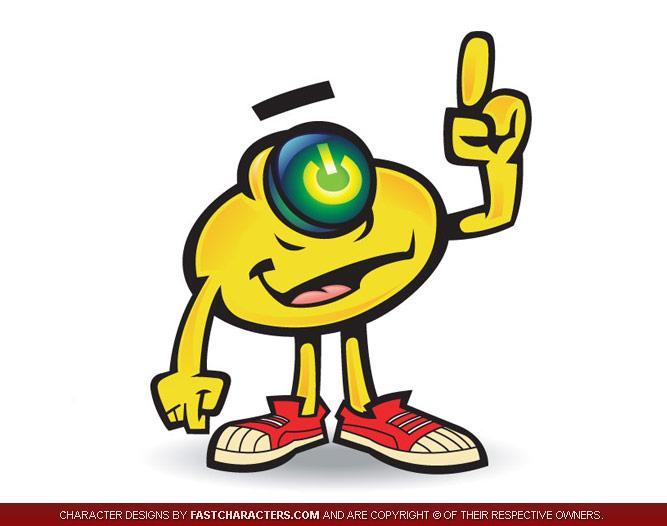Power ON Mascot