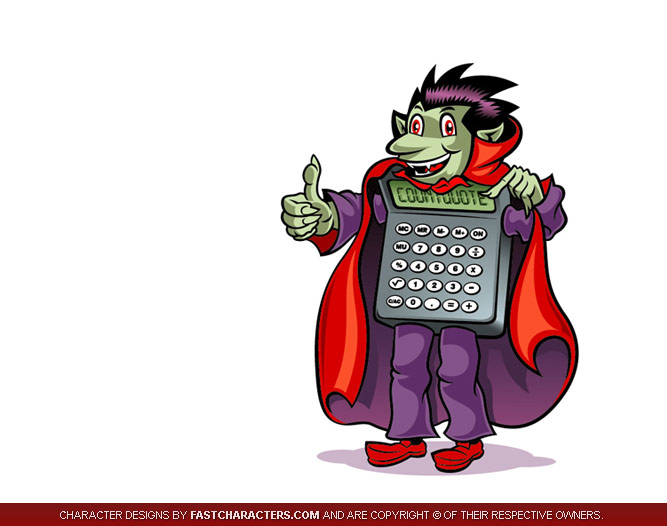 Draculator Mascot