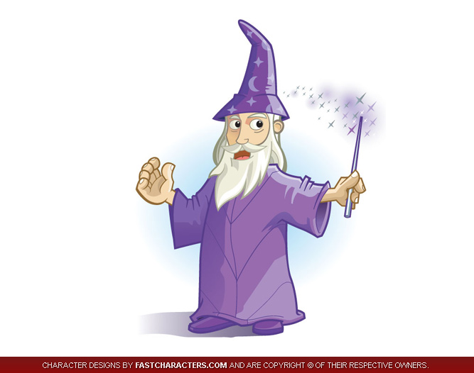 Wonderful Wizard Mascot