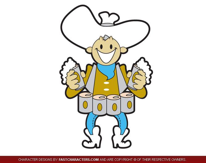 Cowboy Beerman Mascot