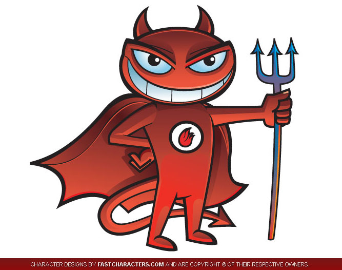 Happy Devil Mascot