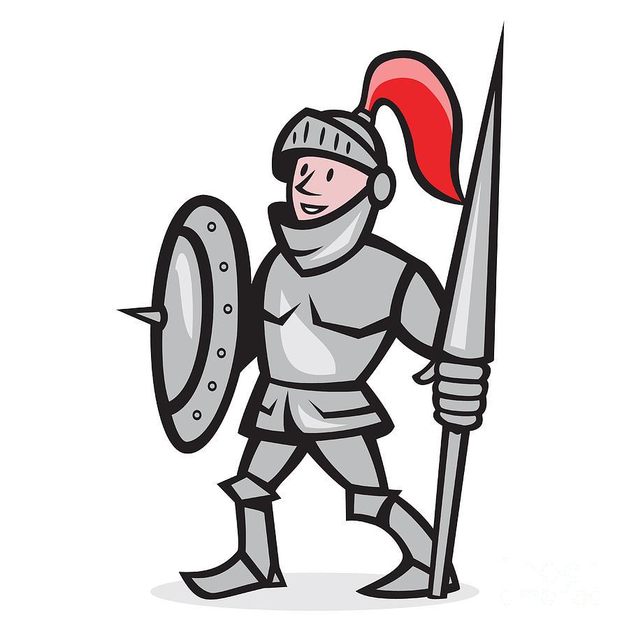 Nobel Knight Mascot