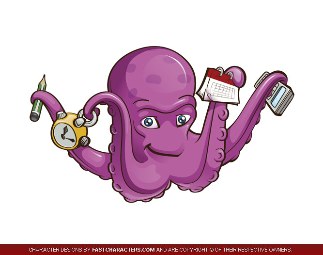Working Octopus Mascot