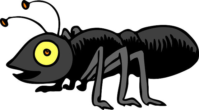 Black Insect Mascot