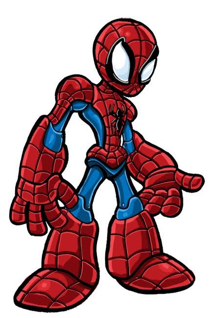 Superhero Spider Mascot
