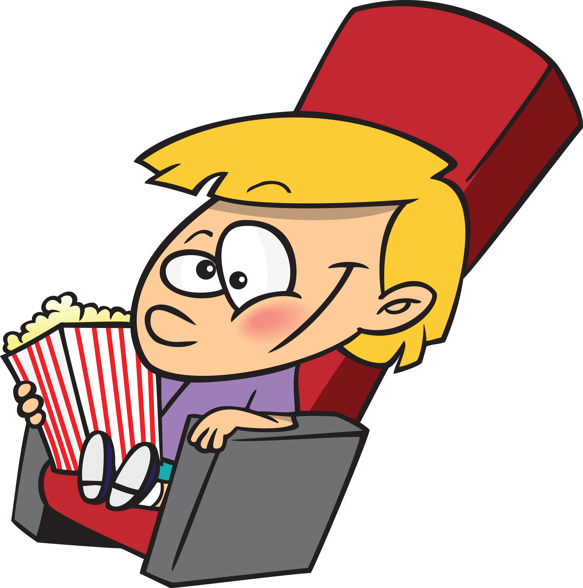 Movie Kid Fan Mascot