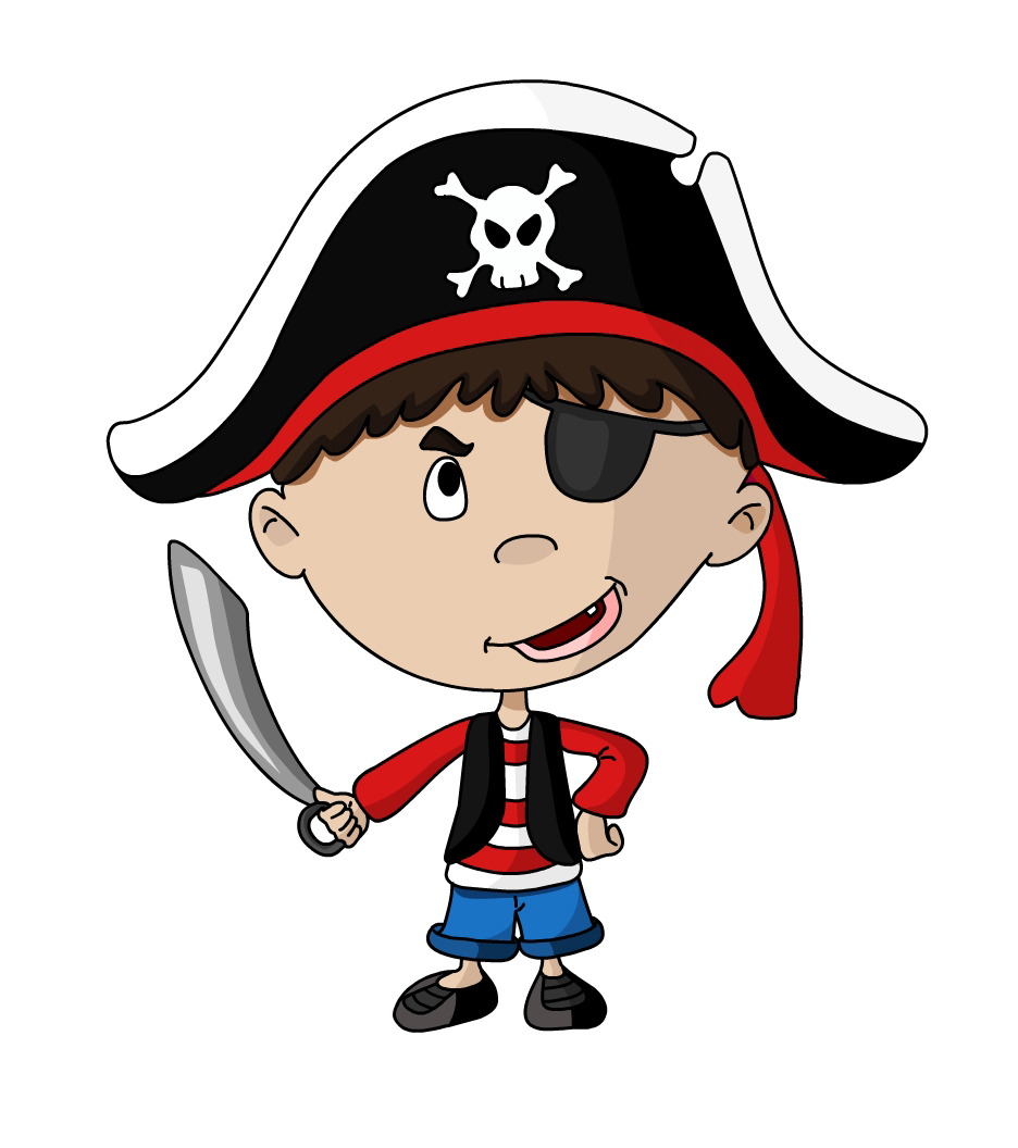 Pirate Kid Mascot