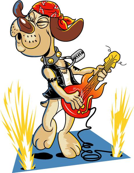Rocker Dog Mascot