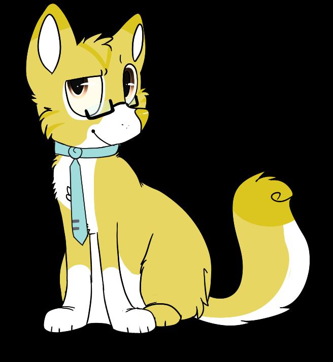 Geek Cat Mascot
