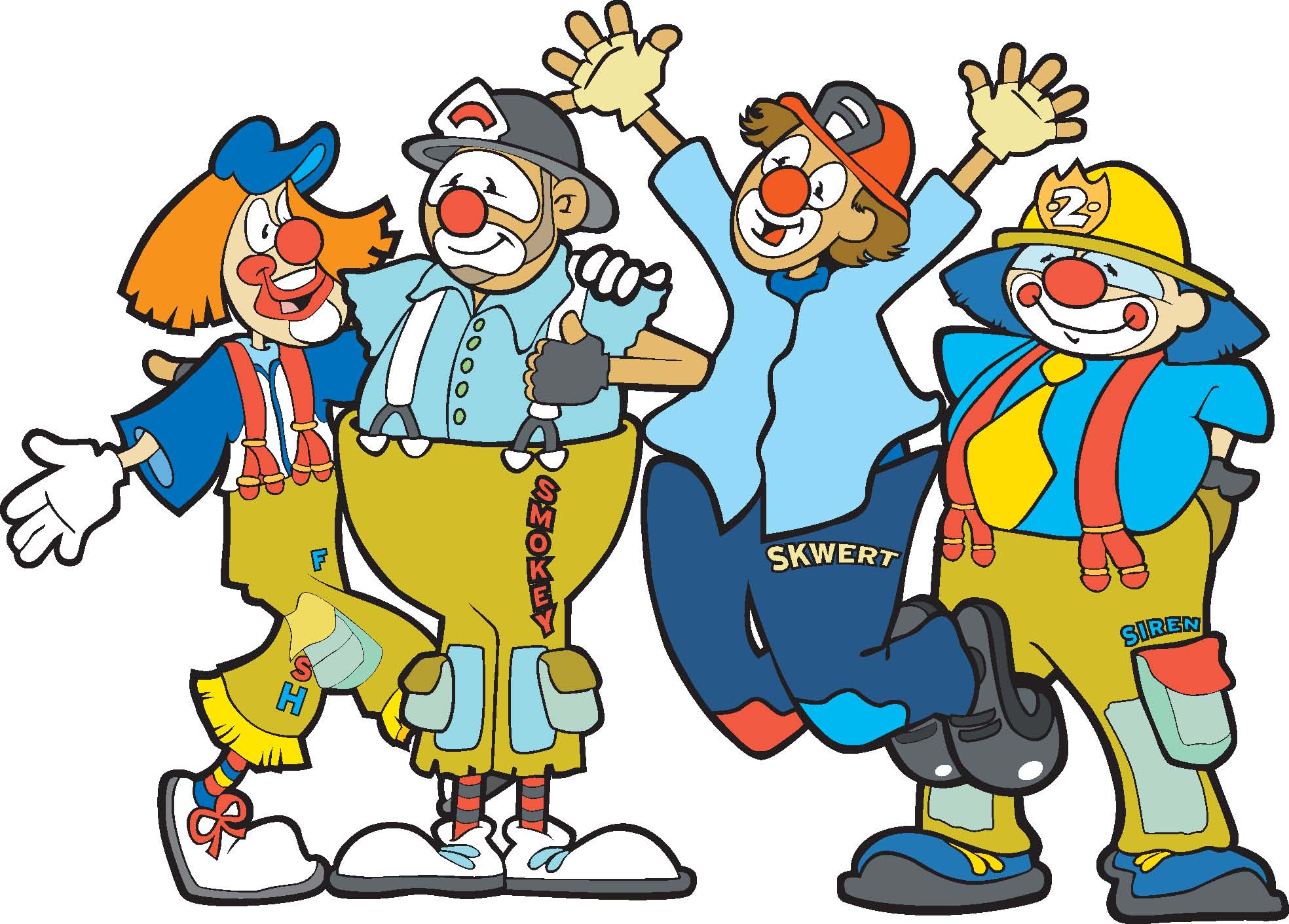 Funny Group Clown Mascot