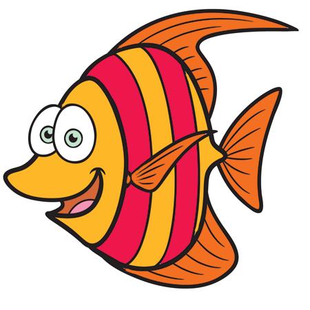 Stripes Fish Mascot