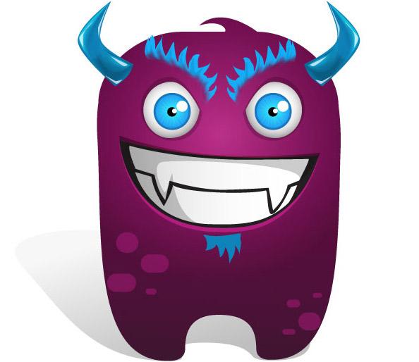 Violet Monster Mascot