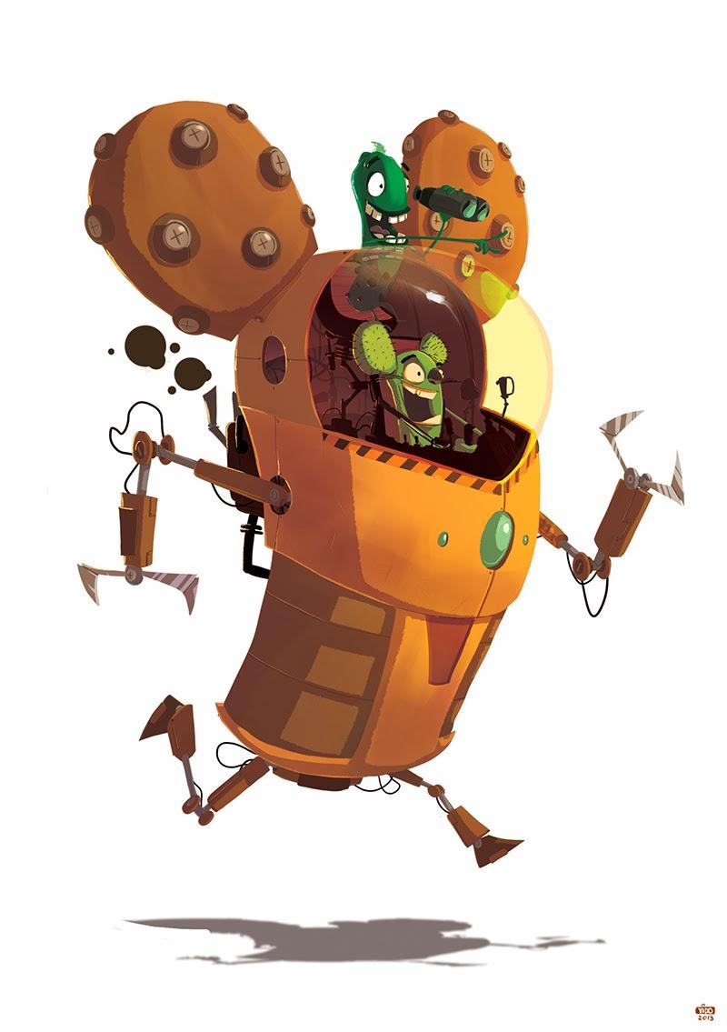 Robot Mouse Mascot