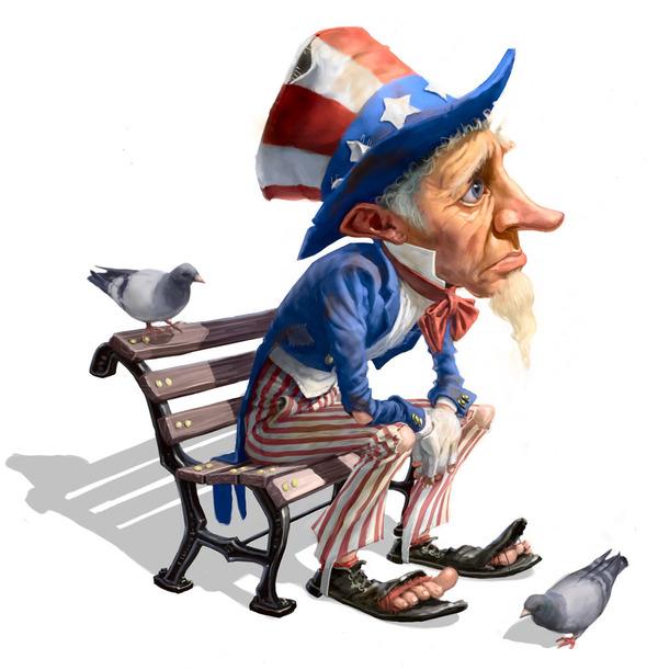 Old American Man MAscot