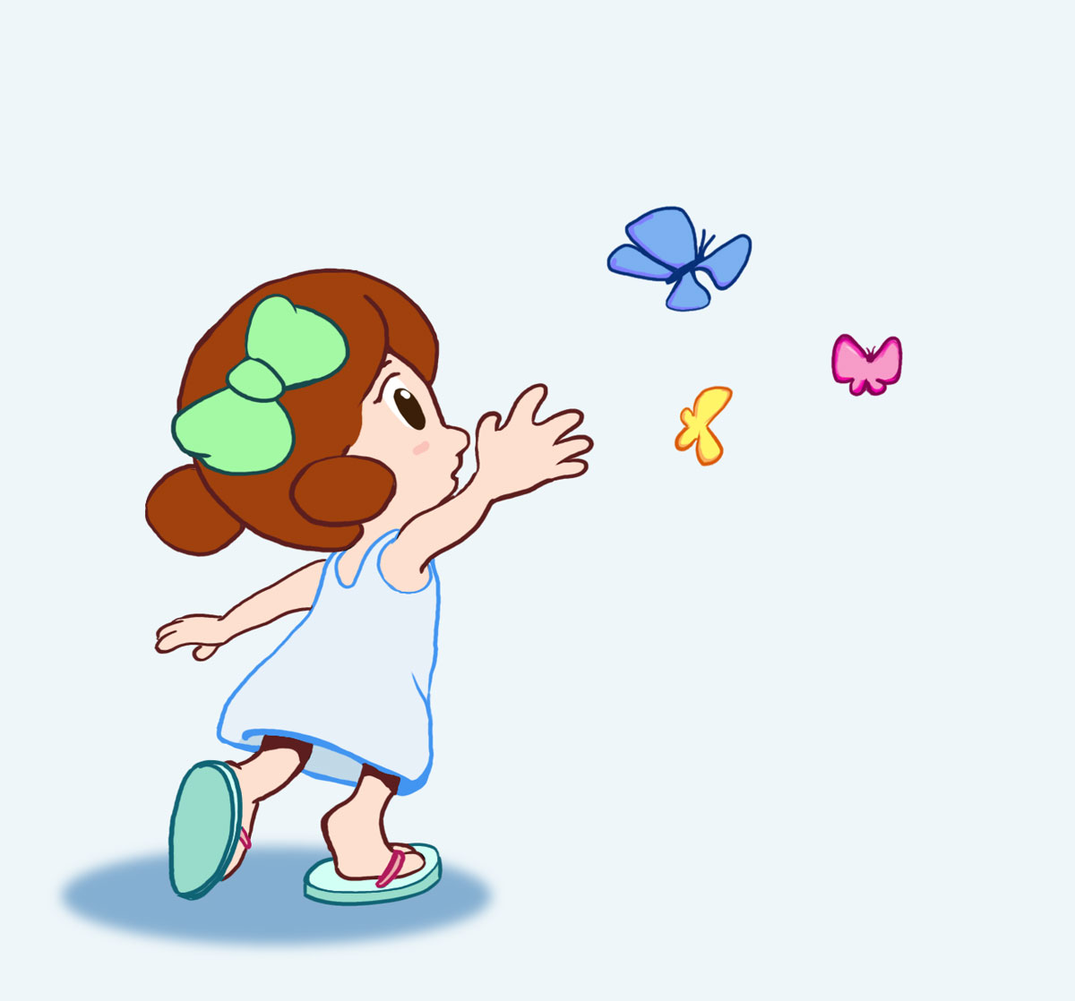 Butterfly Girl Mascot
