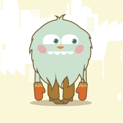 Fur Monster Mascot