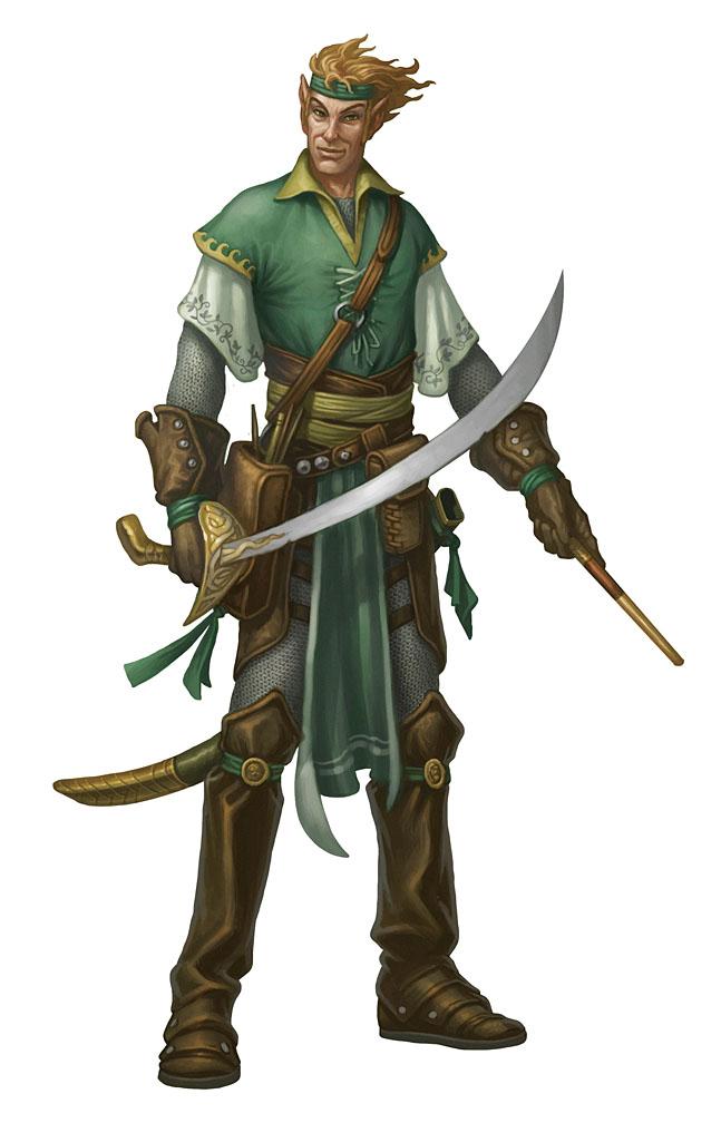 Elf Bard Mascot