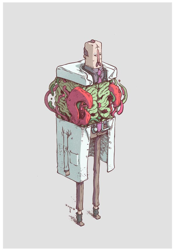 Weird Doctor Mascot