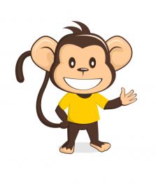 Funny Monkey Mascot