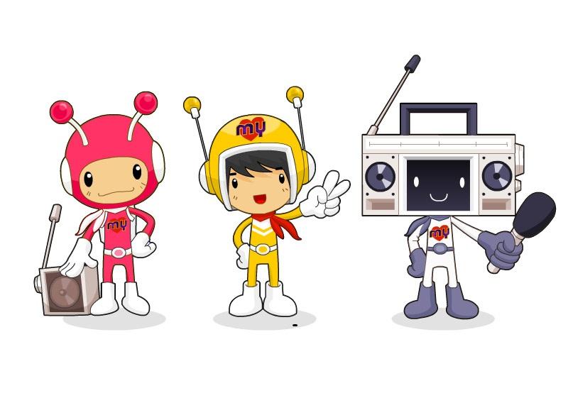 Triple Dancers Mascot