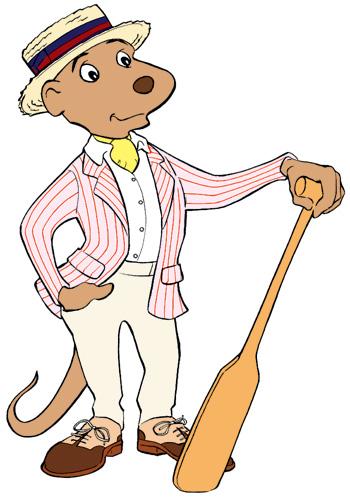 Dog Boat Man Mascot