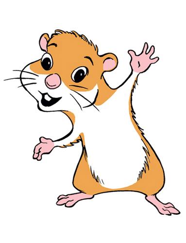 Funny Hamster Mascot