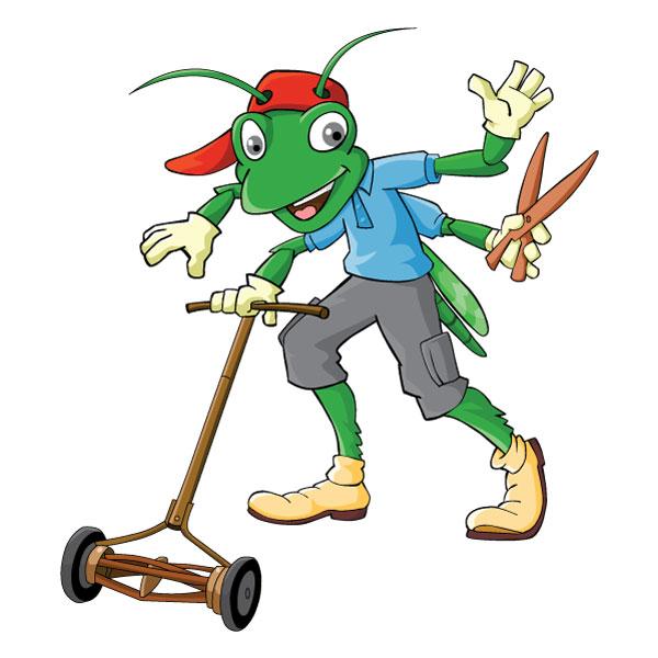 Grasshopper Gardener Mascot