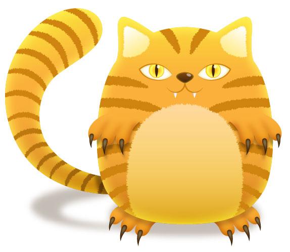 Tiger Kitty Mascot