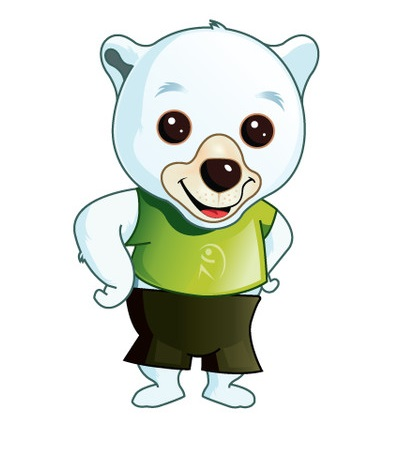Cute Pet Polar Bear Mascot