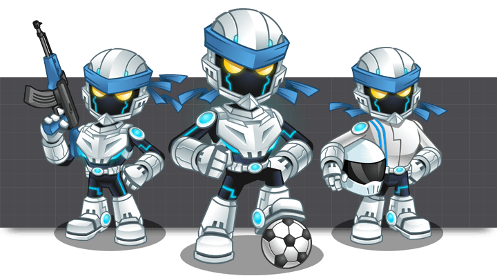 Cool Android Robots Mascot