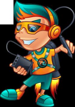 Pixel Creator Boy Mascot