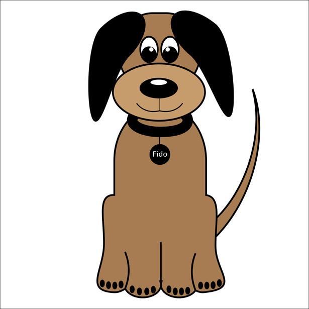 Calm Dog Mascot