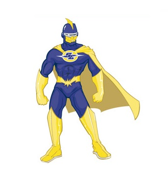 Strong Superhero Mascot