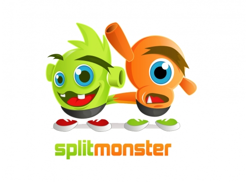 Split Monster Mascot