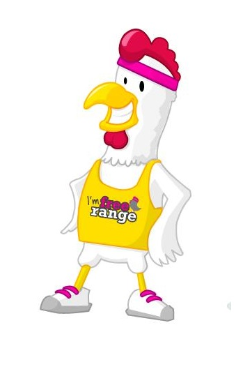 Athletic Chicken Mascot