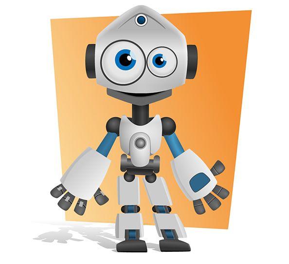 Cute Robot Mascot