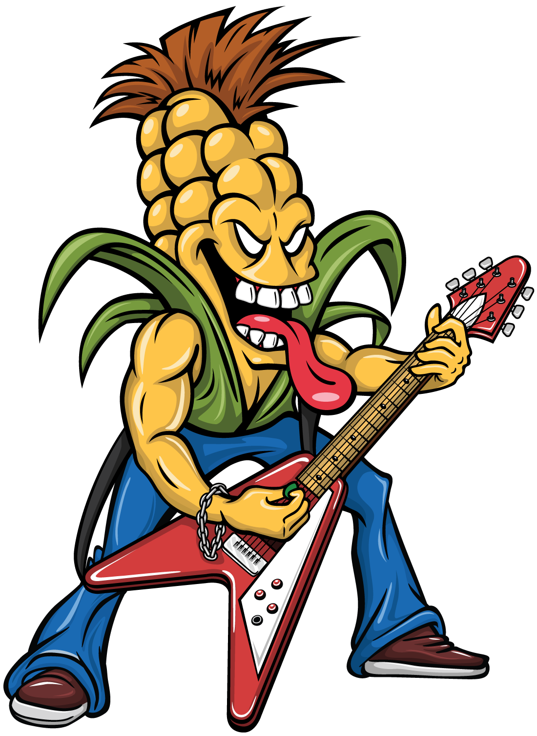 Metal Head Corn Mascot