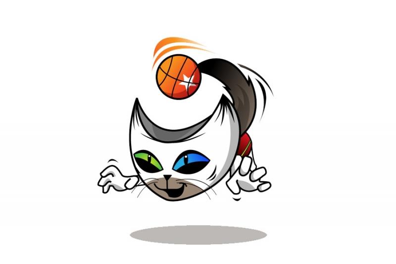 Baller Cat Mascot