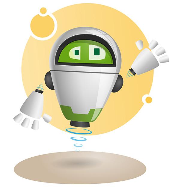 vLevitate Robot Mascot