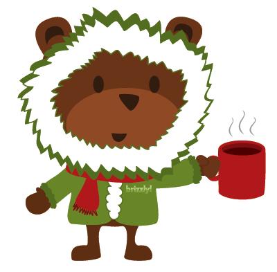 Christmas Bear Mascot