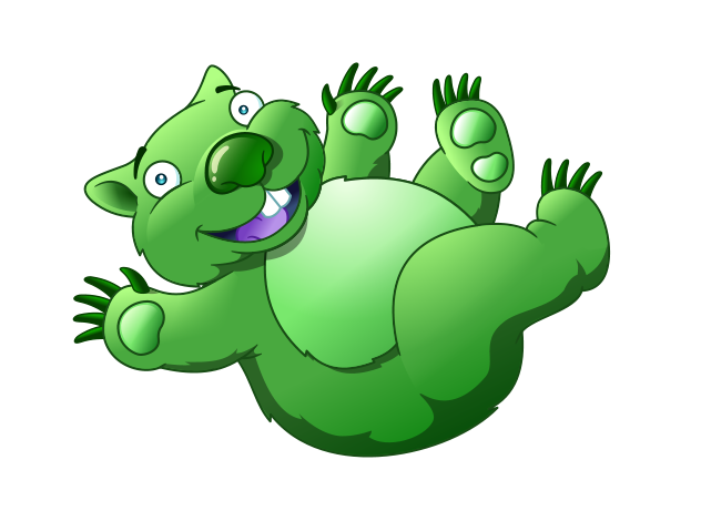 Green Koala Bear Mascot